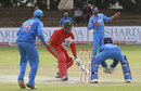Timycen Maruma rushes back to avoid a run-out, Zimbabwe v India, 5th ODI, Bulawayo, August 3, 2013