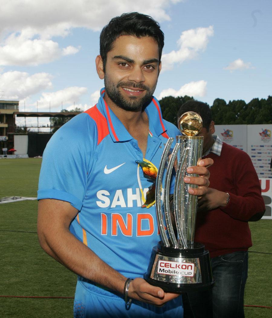 Virat Kohli with the trophy | Cricket Photo | ESPN Cricinfo