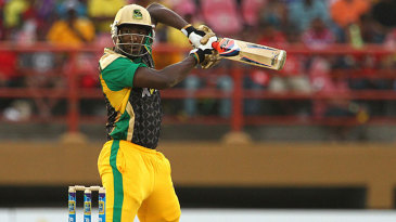 Andre Russell guides the ball behind the wicket