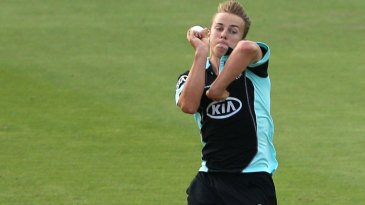 Tom Curran claimed a five-wicket haul on his second Surrey appearance