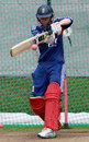 Jonathan Tattersall practises in the nets, National Cricket Performance Centre, Loughborough, August 5, 2013