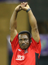 Gordon Greenidge limbers up, Guyana Amazon Warriors v Trinidad & Tobago Red Steel, Caribbean Premier League 2013, Providence, July 31, 2013