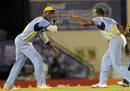 Darren Sammy and Garey Mathurin break into a dance, St Lucia Zouks v Antigua Hawksbills, Caribbean Premier League, Gros Islet, August 6, 2013