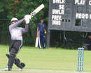 Abdul Shakoor hits a six over the leg side, Canada v UAE, ICC World Cricket League Championship, List A, King City, August 6, 2013