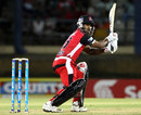 Adrian Barath guides the ball to third man, Trinidad & Tobago Red Steel v Jamaica Tallawahs, Caribbean Premier League, Port-of-Spain, August 7, 2013