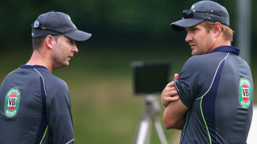 Michael Clarke and Shane Watson in conversation