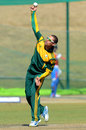 Justin Ontong in his delivery stride, South Africa A v India A, tri-series, Pretoria, August 9, 2013