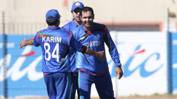 Mohammad Nabi took five wickets for 12 runs, his first five-for haul in List A cricket