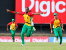 Steven Jacobs claimed the big wickets of Kieron Pollard and Shakib Al Hasan, Barbados Tridents v Guyana Amazon Warriors, Caribbean Premier League, Port-of-Spain, August 11, 2013