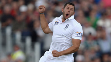 Tim Bresnan was pretty pleased to remove David Warner