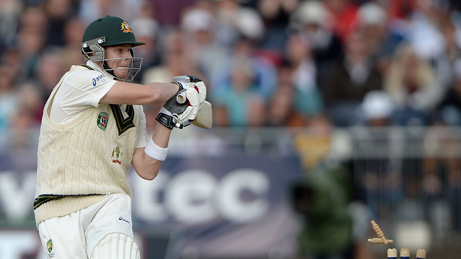 Steven Smith pulled Stuart Broad into his stumps