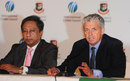 ICC CEO Dave Richardson and BCB president Nazmul Hassan address the media, Dhaka, August 13, 2013