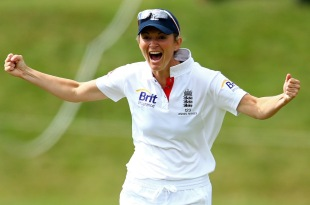 Charlotte Edwards celebrates the run-out of Sarah Elliott, England Women v Australia Women, Only Test, 4th day, Wormsley, August 14, 2013