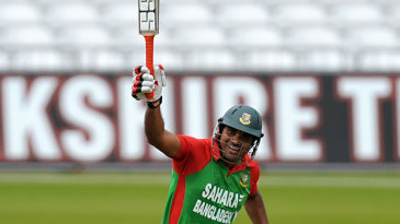 Ziaur Rahman celebrates his 67-ball hundred