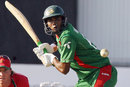 Mahbubul Alam poised to hit the ball, Zimbabwe v Bangladesh, 3rd ODI, Bulawayo, August 14, 2009