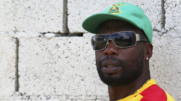 Curtly Ambrose during a training session at Sabina Park