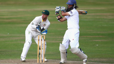 Moeen Ali pulls on the way to a half-century