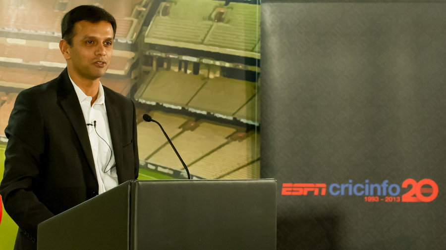 Rahul Dravid speaks at the first Cricinfo for Cricket event, London, August 19, 2013