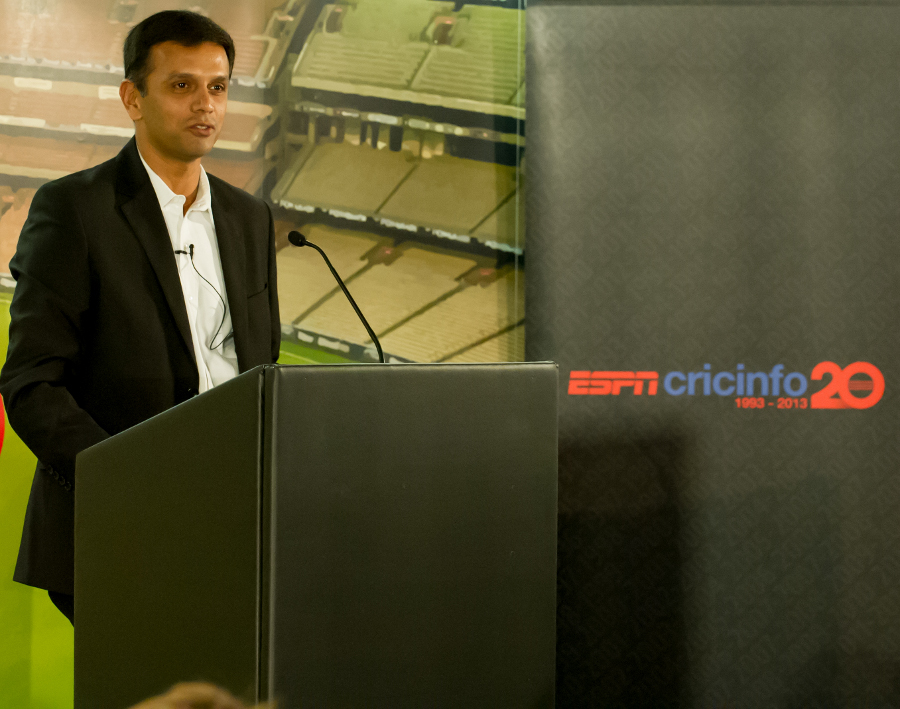 Rahul Dravid speaks at the first Cricinfo for Cricket event