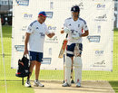 Graham Gooch chats with Alastair Cook in the nets, England v Australia, 5th Investec Test, The Oval, August 20, 2013