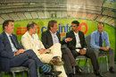 Richard Verow (Sky), Ed Smith, Mark Nicholas, Rahul Dravid and Nasser Hussain at a panel discussion, London, August 19, 2013