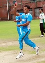 Nazmul Hossain bowls in the nets, Mirpur, August 21, 2013