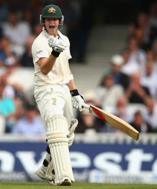 Steven Smith was delighted to reach his first Test hundred, England v Australia, 5th Investec Test, The Oval, 2nd day, August 22, 2013