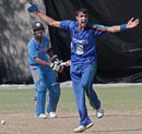 Izatullah Dawlatzai appeals for the wicket of Sandeep Sharma, Afghanistan v India Under-23s, Group A, Asian Cricket Council Emerging Teams Cup, Singapore, August 22, 2013
