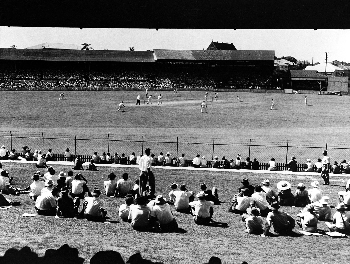 A view of the Gabba during a tour game in 1962