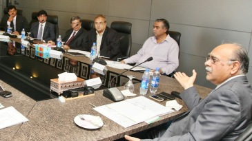 Najam Sethi presides over the PCB governing board meeting