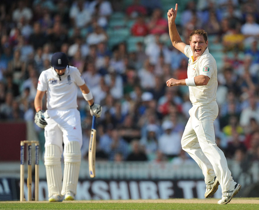 Ryan Harris removed Joe Root, England v Australia, 5th Investec Test, The Oval, 5th day, August 25, 2013