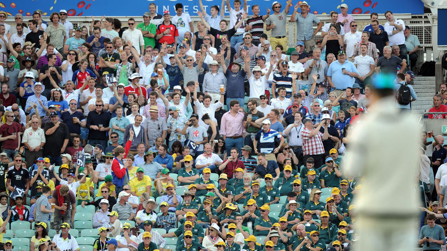 England fans partied and the Australians were made to sit and suffer