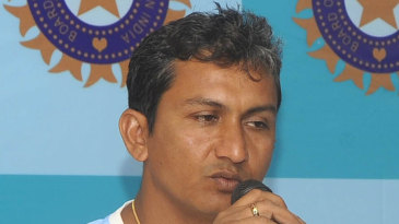 India A coach Sanjay Bangar addresses the media
