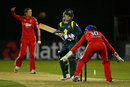 Jodie Fields is bowled by Jenny Gunn, England Women v Australia Women, 1st T20, Chelmsford, August, 27, 2013