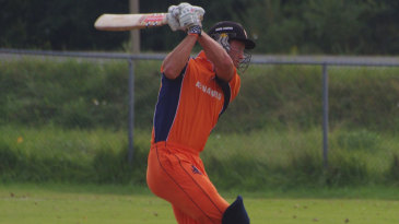 Netherlands' Ben Cooper hits down the track