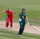 Holly Colvin run out Meg Lanning backing up, England v Australia, 2nd women's T20, Ageas Bowl, August 29, 2013