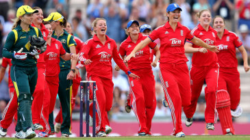 Charlotte Edwards led the charge as England celebrated victory