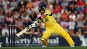 Aaron Finch hit some outrageous shots in his innings