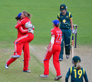Danielle Wyatt celebrates after dismissing Meg Lanning, England v Australia, 3rd women's T20, Chester-le-Street, August 31, 2013