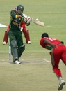 Umar Amin gets ready to pull, Zimbabwe v Pakistan, 3rd ODI, Harare, August 31, 2013