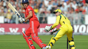 Alex Hales went to a half-century from 34 balls