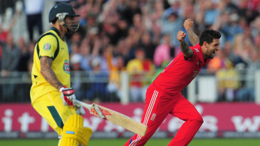 Jade Dernbach was the pick of England's quick bowlers