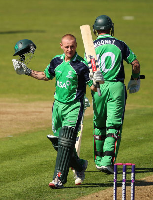 William Porterfield made his sixth ODI hundred, Ireland v England, one-off ODI, Malahide, September 3, 2013