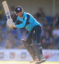 Gordon Goudie whips one off his pads, Scotland v Australia, only ODI, Edinburgh, September 3, 2013