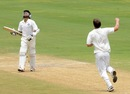 VA Jagadeesh was bowled for 91 by Doug Bracewell, India A v New Zealand A, 2nd unofficial Test, 3rd day, Visakhapatnam, September 4, 2013