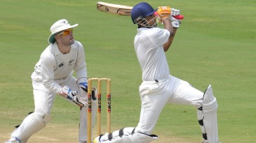 Manpreet Juneja pulls during his hundred