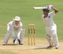 VA Jagadeesh guides one on the off side, India A v New Zealand A, 2nd unofficial Test, 3rd day, Visakhapatnam, September 4, 2013
