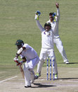 Pakistan players appeal for Shingi Masakadza's wicket, Zimbabwe v Pakistan, 1st Test, 3rd day, Harare, September 5, 2013