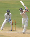 Carl Cachopa drives down the ground, India A v New Zealand A, 2nd unofficial Test, 4th day, Visakhapatnam, September 5, 2013