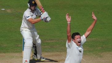 Mitch Claydon took three wickets on day four